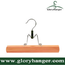 Natural Cedar Wooden Skirt Hanger with Matel Hook