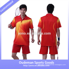 Custom dry fit fitness badminton jerseys wholesale for men and women
