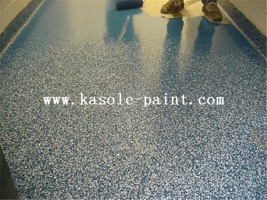 epoxy floor with sand