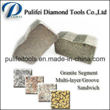 Segmento de corte de piedra para herramientas de granito de hoja de sierra de granito