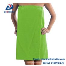 Großhandel angepasst Baumwolle Badetuch Wrap / Badetuch Kleid / sexy Bad Kleid