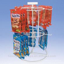 Complete Fit Out para cumplir con sus especificaciones exactas Chips de patata Venta al por menor de 2 capas de alambre de mesa de suspensión Racks de visualización