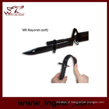 Baioneta de manequim M9 airsoft plástico com bainha modelo para Cosplay
