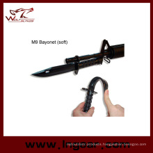 Airsoft Plastic Dummy M9 Bayonet with Sheath Model for Cosplay