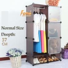 Cbinet de almacenamiento de plástico marrón DIY con muchos colores disponibles (FH-AL0523-3)