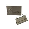 Accessoire de sacs Logo gravé personnalisé en métal
