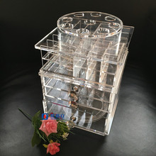 Custom Acrylic Lip Gloss 360 degrés Rotation Display Rack Stand Vente en gros