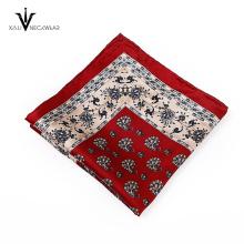 Carré de poche tissé en soie de marque célèbre de coutume