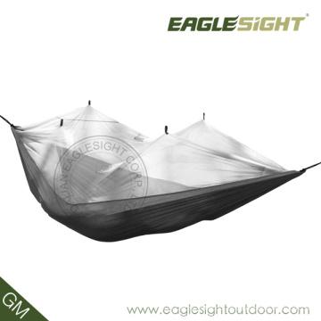 Mochilero inteligente con hamaca de paracaídas con mosquitera