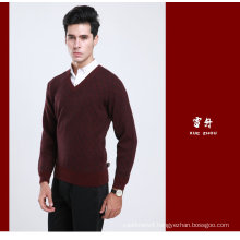 Yak Wool /Cashmere V Neck Pullover Long Sleeve Sweater/Garment/Clothing/Knitwear
