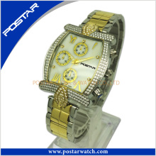 Customized Mutifunction Watch for Men with Stainless Steel Band
