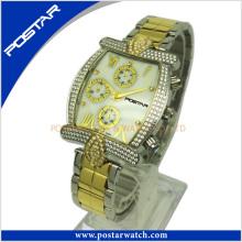 Relógio multifunções personalizado para homens com banda de aço inoxidável