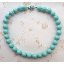 Kalung Palsu Murah Turquoise Pearl Necklace