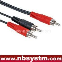 1 RCA Stecker auf 2 Cinch Stecker Splitter Kabel