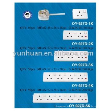 Douilles à tour UK type surtension adaptateur 3w 4w 5w 6w terme bloc 3 a