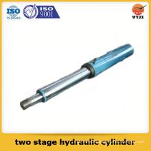 Cilindro hidráulico de dos etapas de doble efecto