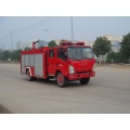 ISUZU 4x2 foam fire truck with ladder up