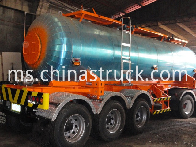 3 Axles Stainless Steel Liquid Sulphur Tanker Trailer