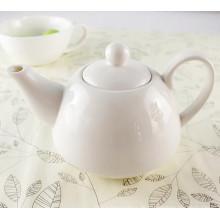 Kundenspezifische weiße Farbe Keramik Teetopf Set