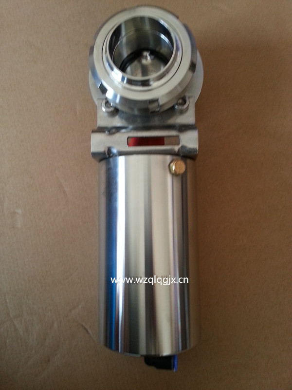Pneumatic Butterfly Valve with Union