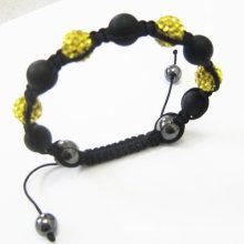 Nuevas bolas cristalinas de las pulseras de Shamballa del diseño con la ágata BR68
