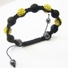 Новый дизайн Shamballa браслеты хрустальные шары с агатом BR68