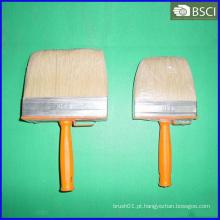 Escova de teto de cerdas brancas com alça de plástico (THB-006)