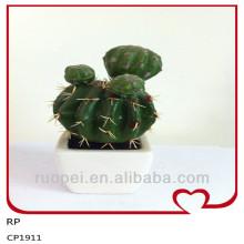 Китай Оптовая мини искусственные кактусы для домашнего декора