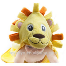 Handsome Lion 100% bamboo baby hooded towel Christmas baby Hooded towel super fluffy premium baby bath towel