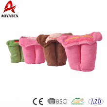 Cobertor encapuçado do bebê recém-nascido da cabeça animal bordada algodão 100%