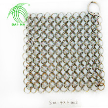Alibaba China supply Chain Mail Scrubber for Cast Iron/stainless steel chain mail