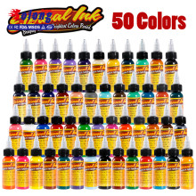 Fabrik Preis Solong Tattoo Ink liefert 30 ml 50 Farbe Pigment für Permanent Make-up
