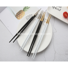 Simple Solid Color 304 Stainless Steel Chopsticks