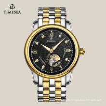 Hochwertige Skeleton mechanische Uhr mit Edelstahlband 72103
