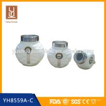 Keramik Steinzeug luftdicht Kaffee Tee Kanister Set Großhandel mit Löffel