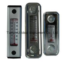 Indicateur de calibre de niveau d'huile en verre en aluminium avec thermomètre