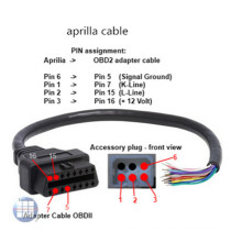 Aprilia ECU Tuneecu Diagnose-OBD-Interface-Kabel für Motorrad-Tuning
