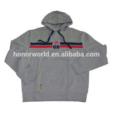 20 years factory low price leather jacket with grey hood supplier