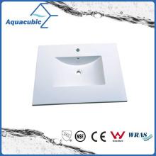 Lavamanos y techos de baño de color blanco Polymarble Acb0813