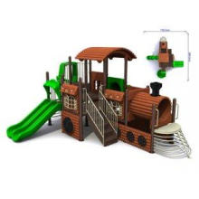Steel Park Facility Kids Outdoor Playground Equipment Slide