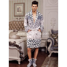 Cosy Smooth Warm Flannel Fleece Men's Bathrobe