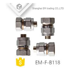 EM-F-B118 Female thread brass al-pex-al union pipe fitting