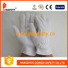 Guantes ligeros Dch110 del desfile del inspector del algodón del peso medio