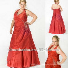 Halter Top Taffeta Com Beading Evening Dress 2012