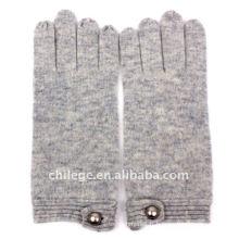 mitaines de tricot de cachemire boutonnées de mode mitaines