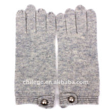 fashion buttoned cashmere knitting gloves mittens