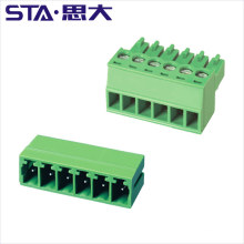 3.81mm female and male 300v 8A PCB Connector Plug Screw Connection Terminal Block