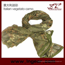 Lenço tático multifuncional Scrim cachecol cachecol de Airsoft Headwear lenço italiano Vegetato Camo