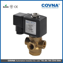 VX31 series direct acting 3 position 3way gas medium solenoid valve brass material size G1/4 inch solenoid valve