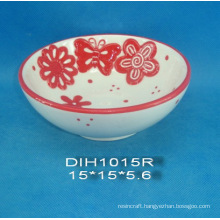 Hand-Painted Ceramic Round Candy Bowl for Easter Decoration